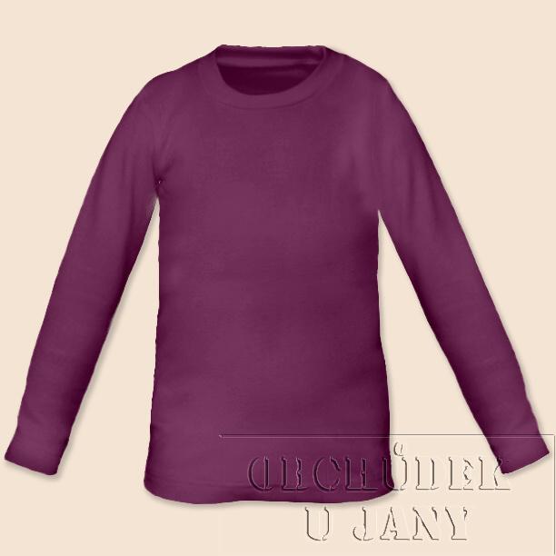 Dětské tričko dlouhý rukáv fialovo-růžové
