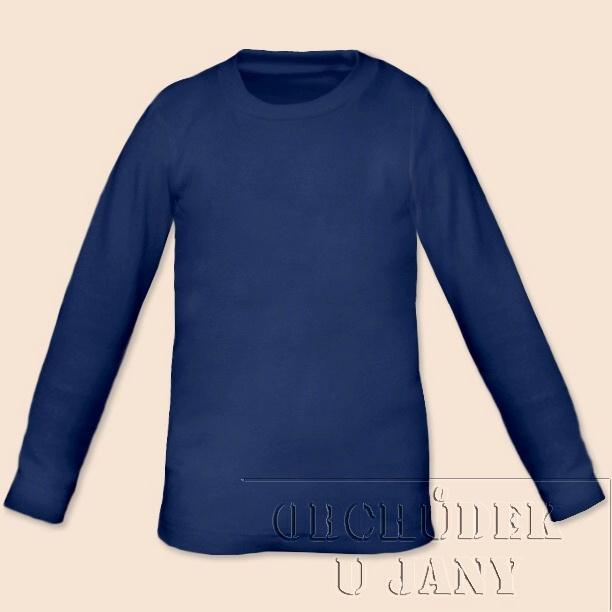 Dětské tričko dlouhý rukáv modré