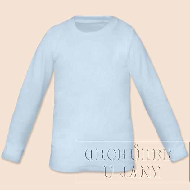 Dětské tričko dlouhý rukáv modré světlé