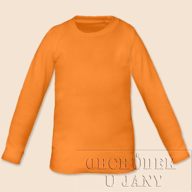 Dětské tričko dlouhý rukáv oranžové světlé