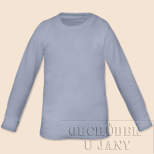 Dětské tričko dlouhý rukáv modré pomněnkové