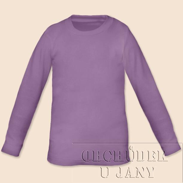 Dětské tričko dlouhý rukáv fialové šeříkové