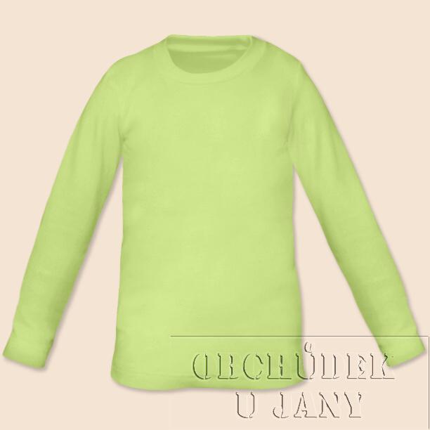 Dětské tričko dlouhý rukáv zelenkavé