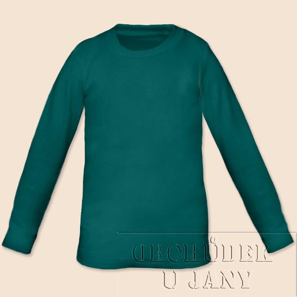 Dětské tričko dlouhý rukáv zeleno-modré
