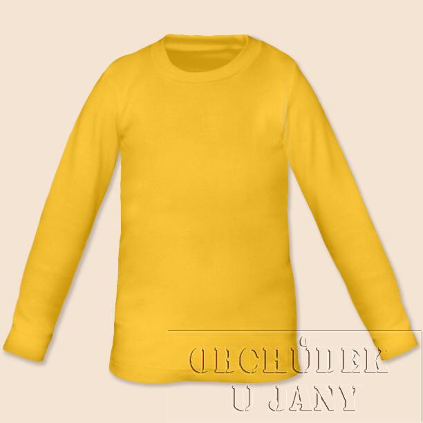 Dětské tričko dlouhý rukáv žluté