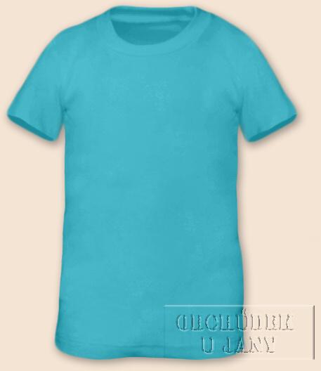 Tričko krátký rukáv modré tyrkysové