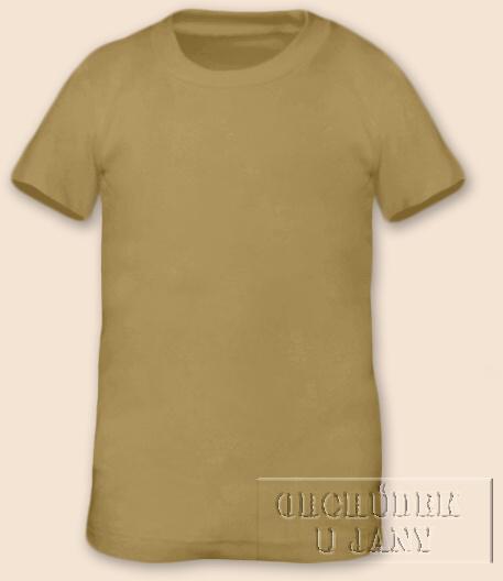 Tričko krátký rukáv béžové