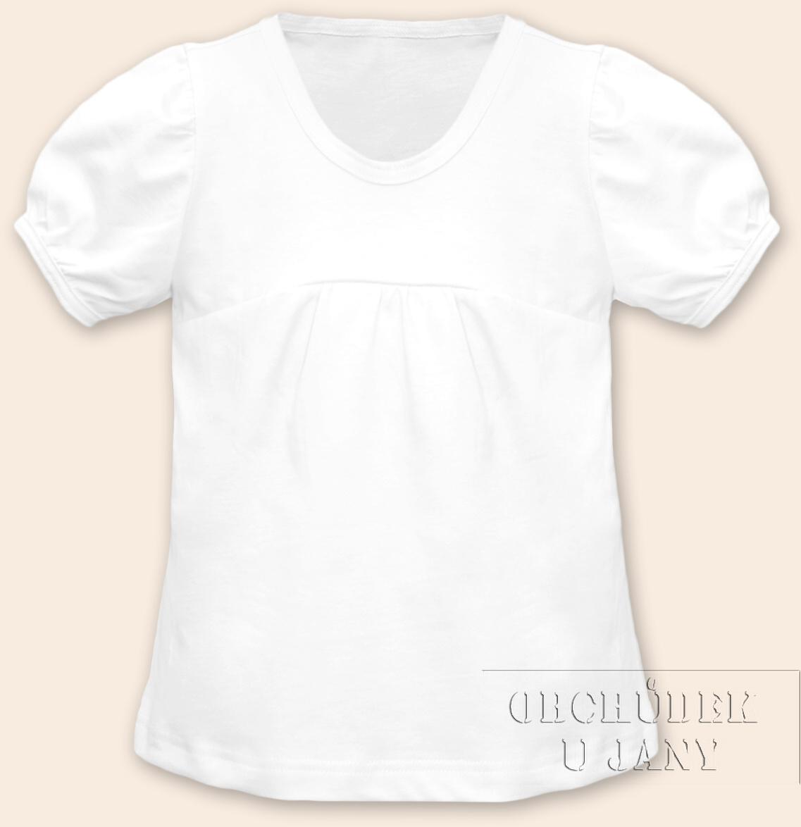 Dívčí tričko jednobarevné bílé
