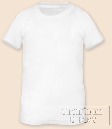 Tričko krátký rukáv bílé