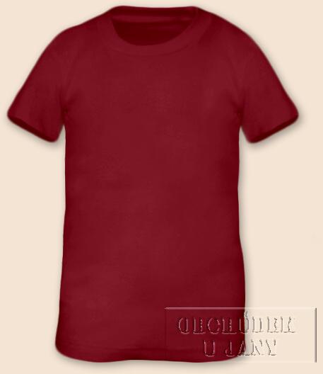 Tričko krátký rukáv bordó