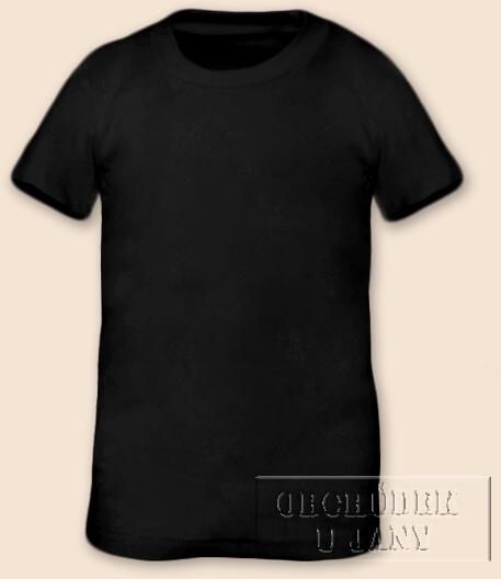 Tričko krátký rukáv černé