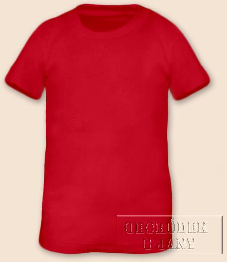 Tričko krátký rukáv červené