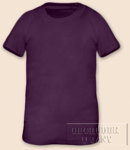 Tričko krátký rukáv fialové