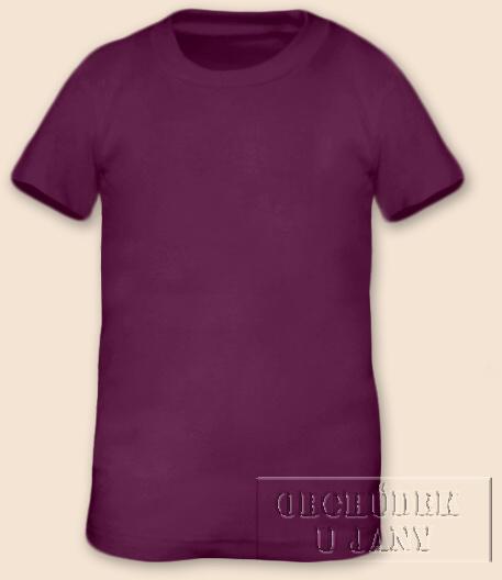 Tričko krátký rukáv fialovo-růžové