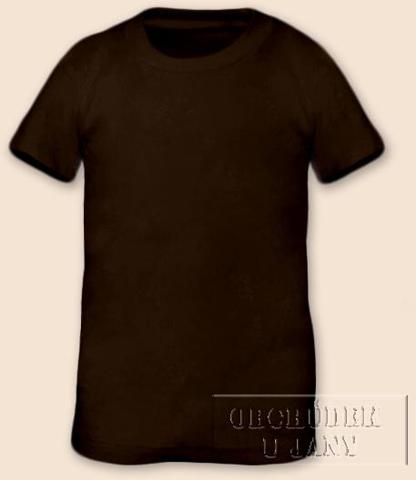 Tričko krátký rukáv hnědé