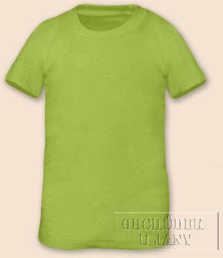 Tričko krátký rukáv zelené hráškové