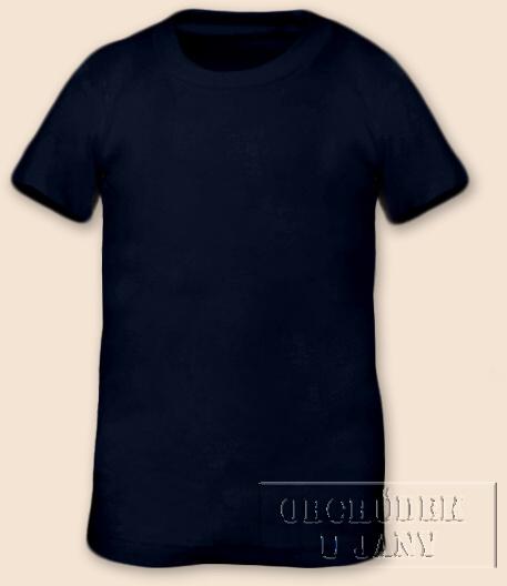 Tričko krátký rukáv modré inkoustové