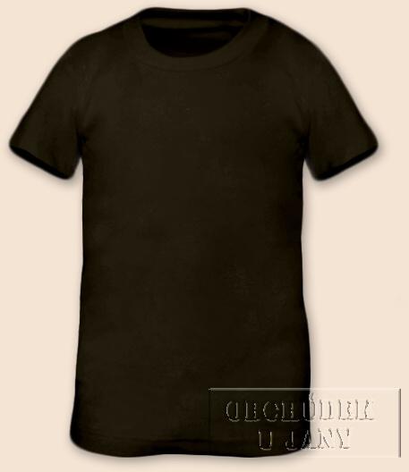 Tričko krátký rukáv khaki