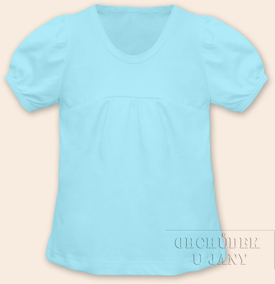 Dívčí tričko jednobarevné tyrkysové