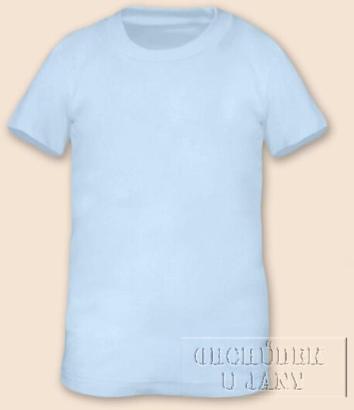 Tričko krátký rukáv modré světlé