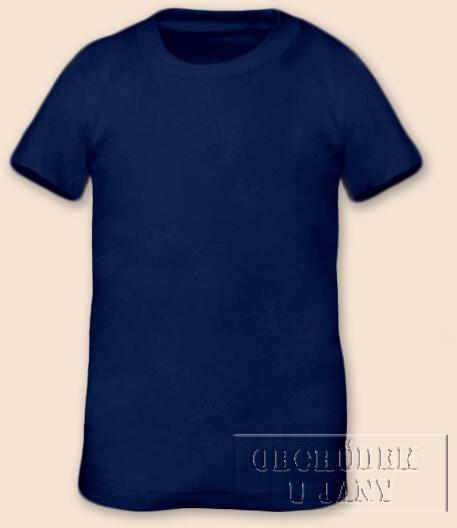 Tričko krátký rukáv modré