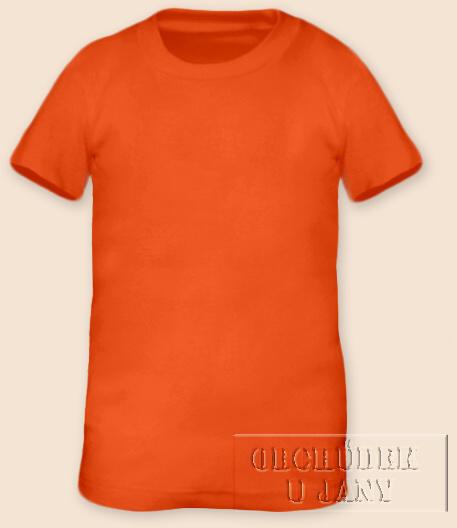 Tričko krátký rukáv oranžové tmavé