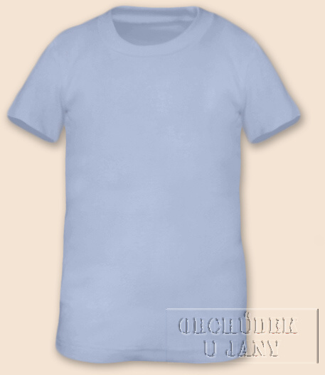 Tričko krátký rukáv modré pomněnkové