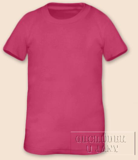 Tričko krátký rukáv růžové tmavé