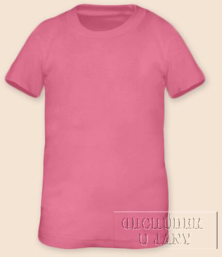 Tričko krátký rukáv růžové