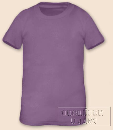 Tričko krátký rukáv fialové šeříkové