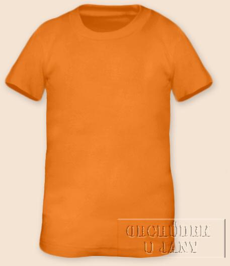 Tričko krátký rukáv oranžové světlé