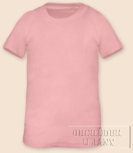 Tričko krátký rukáv růžové světlé