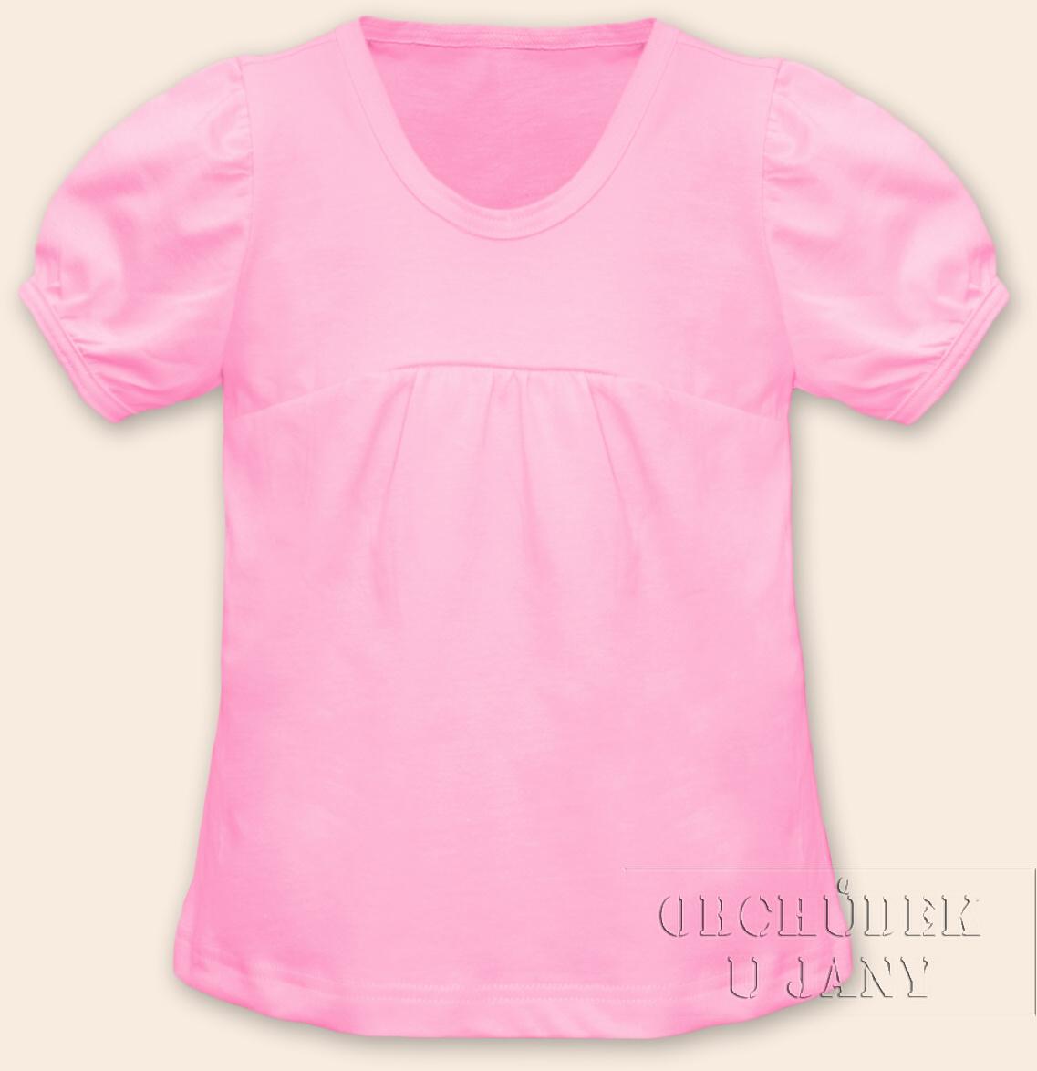 Dívčí tričko jednobarevné růžové světlé
