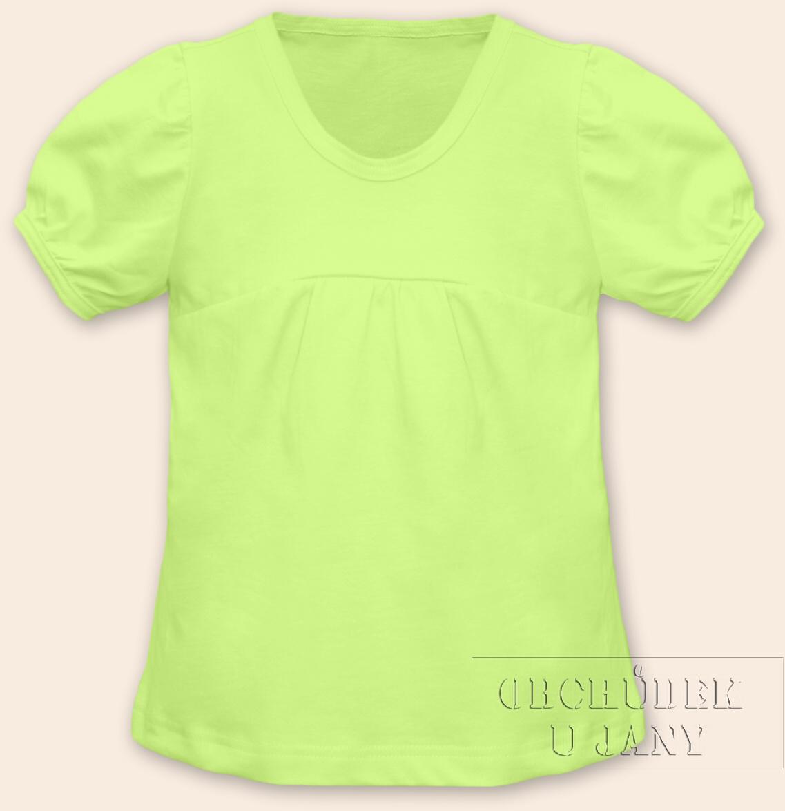 Dívčí tričko jednobarevné zelenkavé