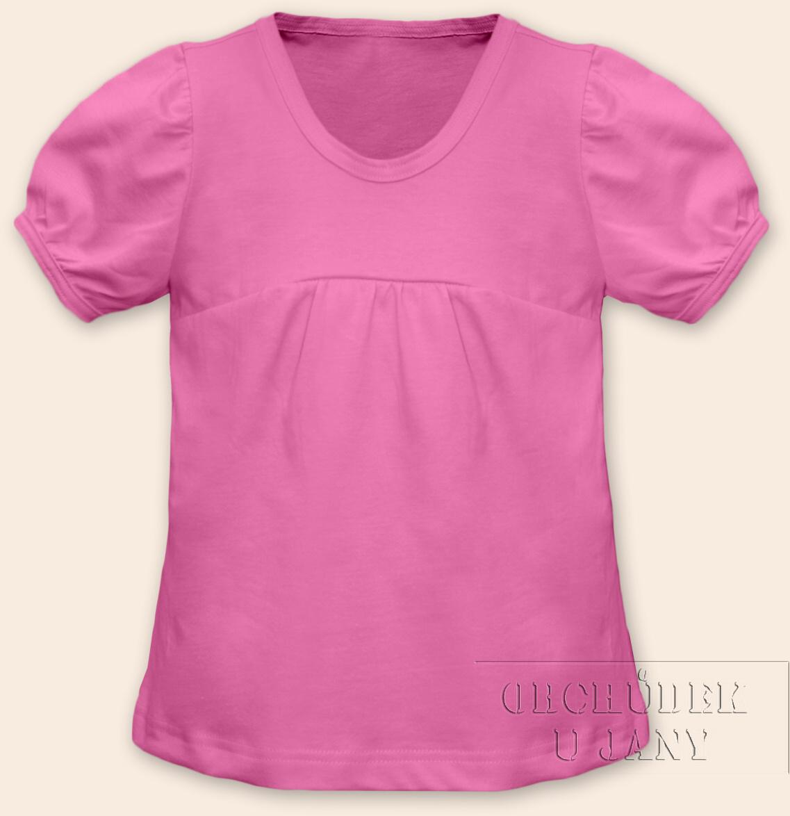 Dívčí tričko jednobarevné růžové