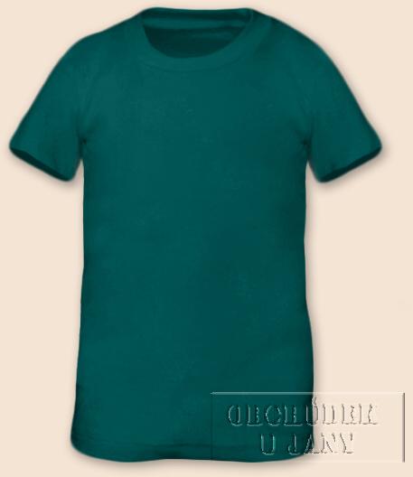 Tričko krátký rukáv zelenomodré