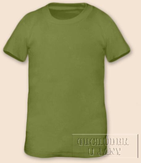 Tričko krátký rukáv zelené olivové