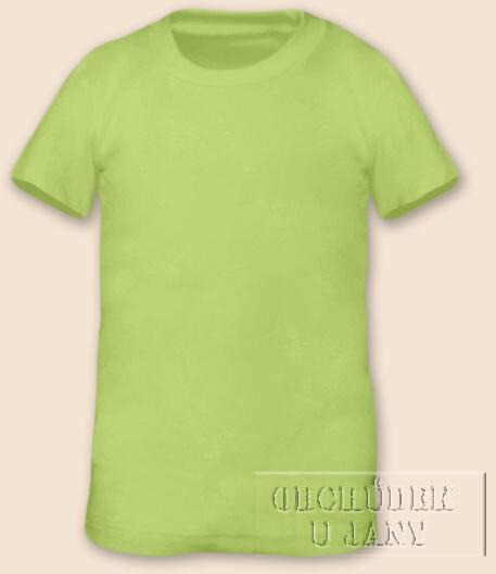 Tričko krátký rukáv zelenkavé