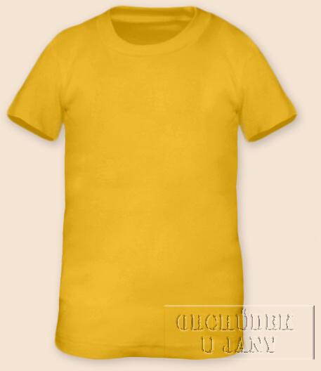 Tričko krátký rukáv žlutá