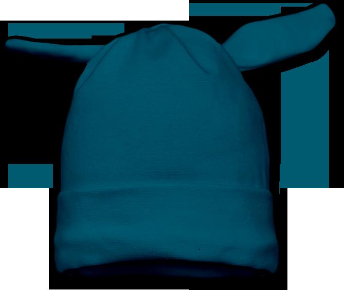 Čepice uzel tmavě tyrkysová