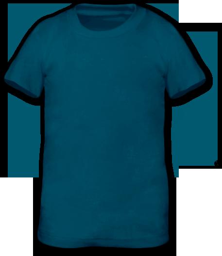 Tričko krátký rukáv petrolejové