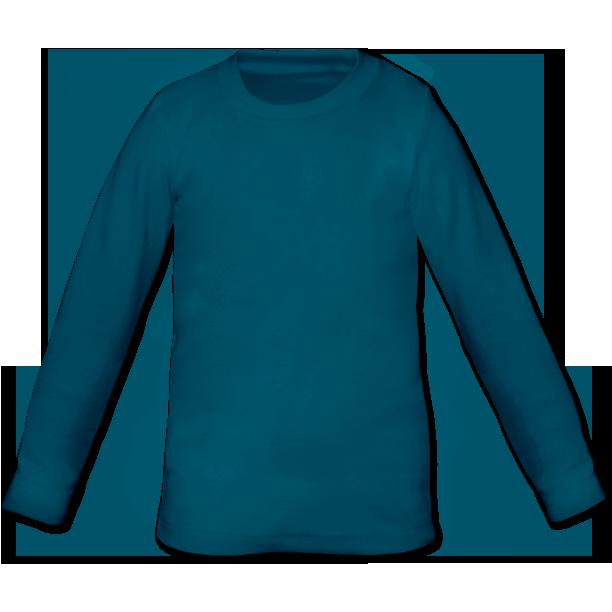 Dětské tričko dlouhý rukáv petrolejové