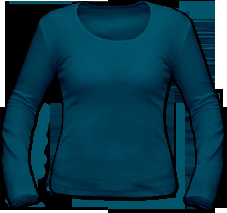 Dámské tričko dlouhý rukáv petrolejové