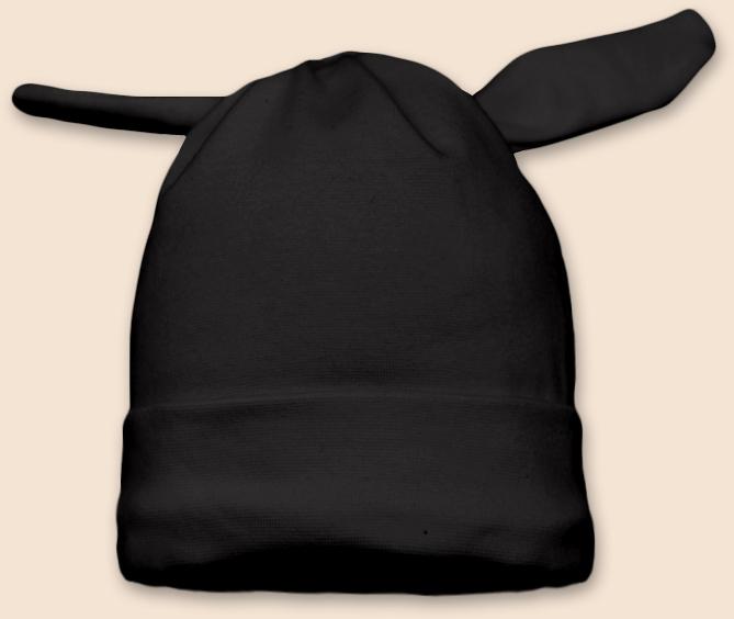 Čepice uzel černá