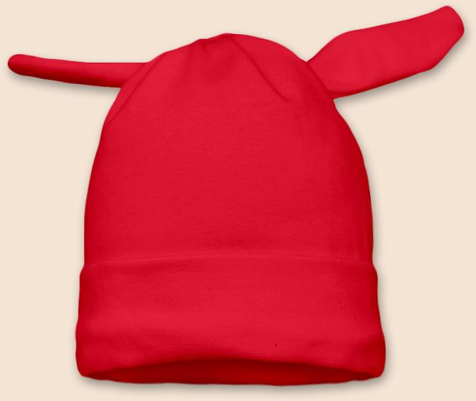 Čepice uzel červená