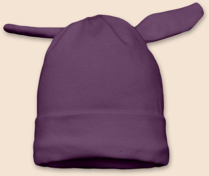 Čepice uzel fialová