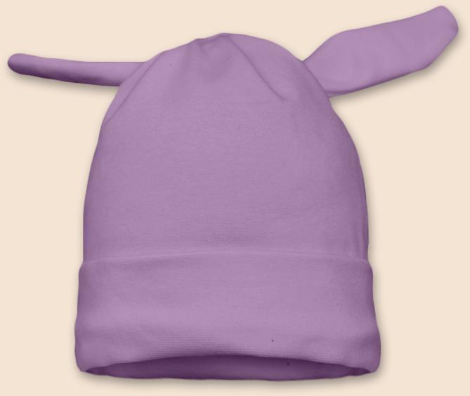 Čepice uzel fialová šeříková