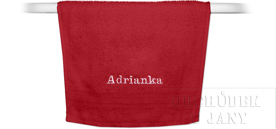 Froté ručník se jménem 30x50cm,370 g/m²