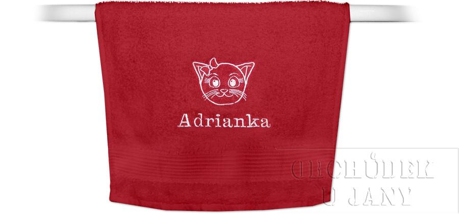 Froté ručník se jménem a obrázkem 50x100cm,500 g/m²