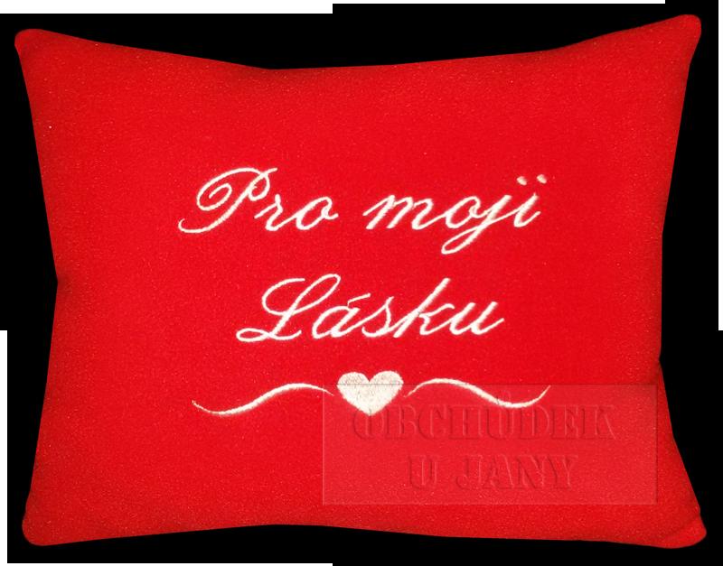 Valentýnský polštářek červený